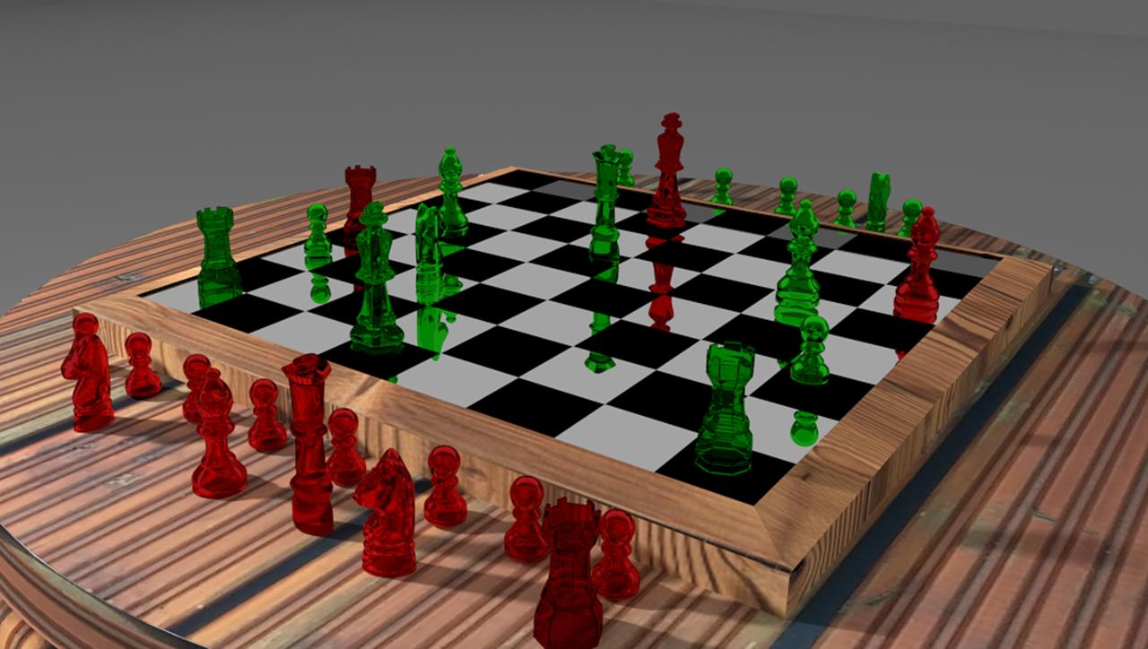 赤色と緑色の駒