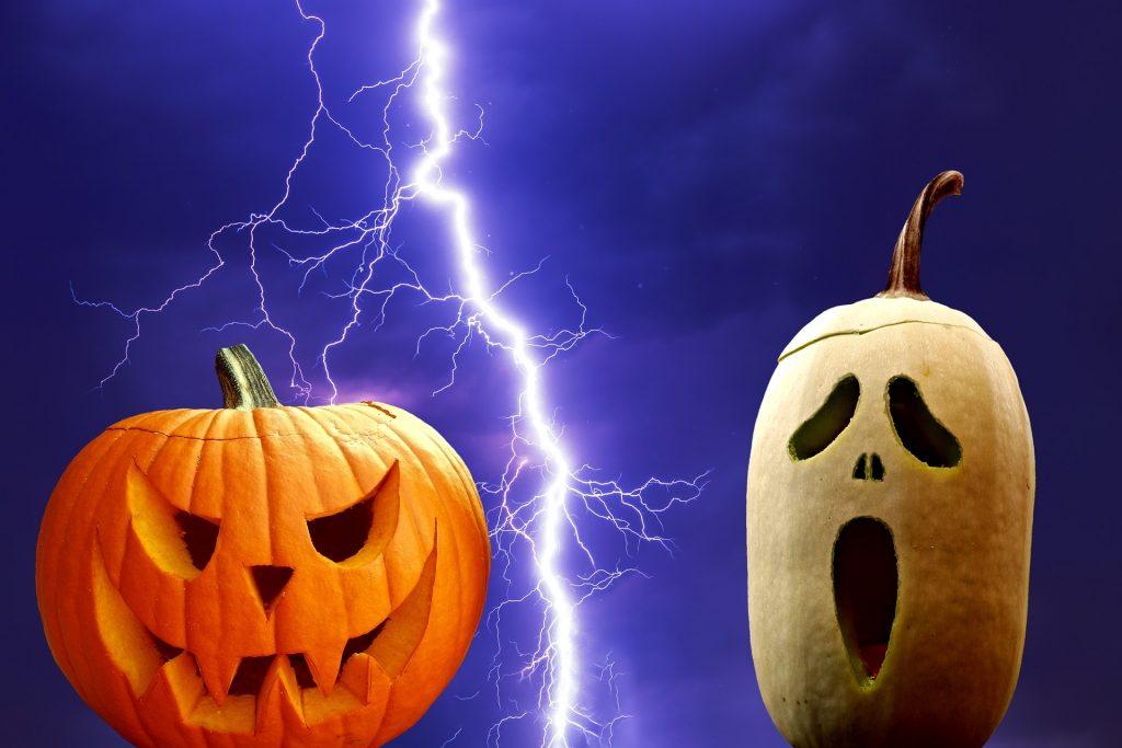 ハロウィンと雷