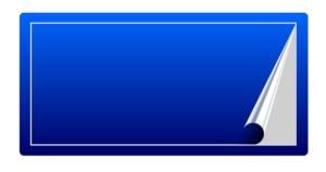 青色のステッカー